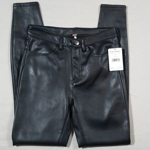 Free People Vegan Leather Leggings Black Size 26